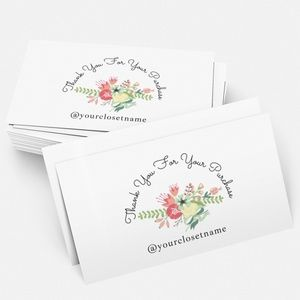 """Thank You Cards (50) w. Personalization 2"""" x 3.5"""""""